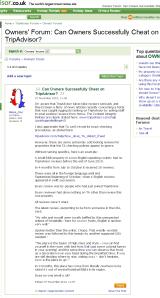 TripAdvisor Owners Forum